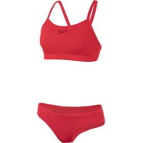 speedo Essential Endurance+ Bikini m. tynde stropper Damer, rød